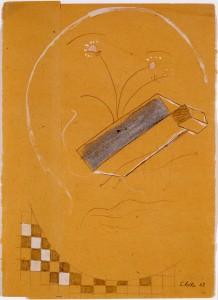 Untitled (Rundes Gesicht mit Schachtelnase) - 1968 - Sigmar Polke