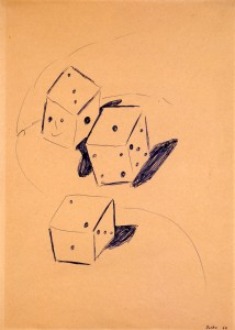 Untitled (Three Dice) - 1964 - Sigmar Polke