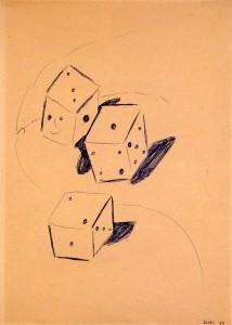 Untitled (Three Dice) - 1964 - Sigmar Polke