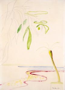 Untitled (Fluss mit Palme und Asten) - 1969 - Sigmar Polke