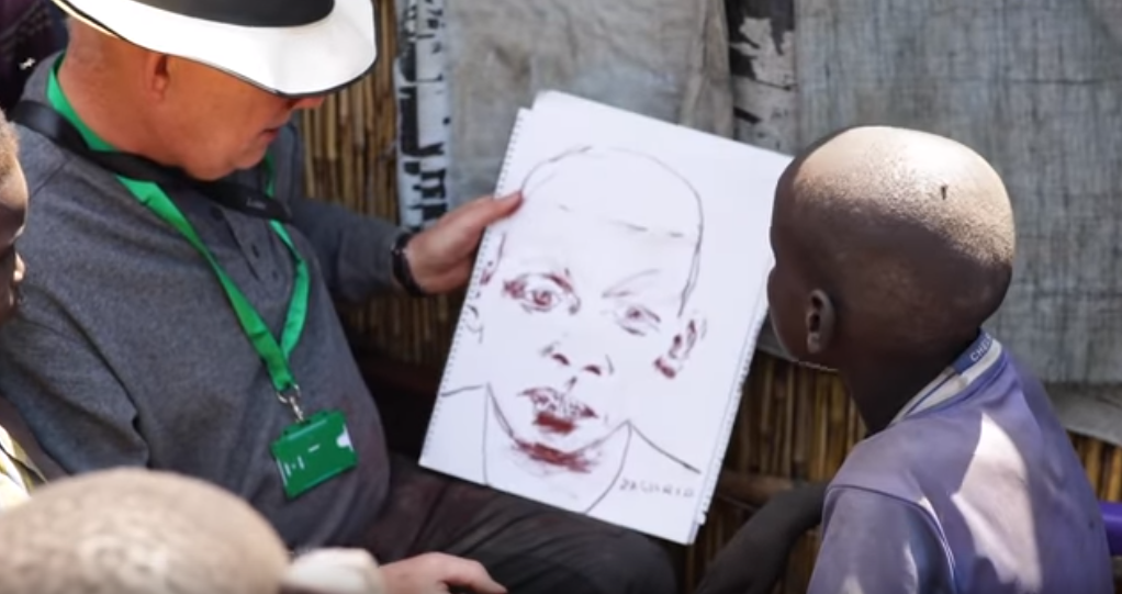 Video Thumbnail: HUMANITY Site Unseen: Irish artist Brian Maguire in South Sudan