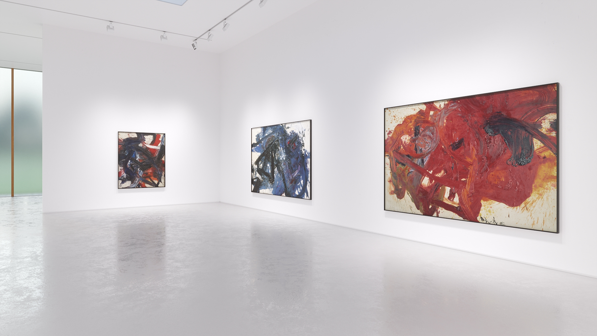 Photograph from the Kazuo Shiraga: Tales of the Water Margin exhibition.